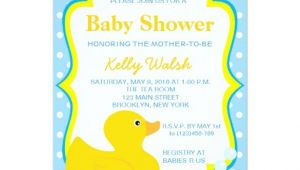 """Rubber Ducky Baby Shower Invites Rubber Ducky Baby Shower Invitations 5"""" X 7"""" Invitation"""