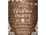 Rustic Party Invitation Template Christmas Party Rustic Wood Twinkle Lights Lace