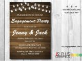 Rustic Party Invitation Template Instant Download Engagement Invitation Rustic Lights