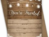 Rustic Party Invitation Template Rustic Bridal Shower Invitations Amazon Com