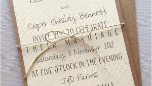Rustic Wedding Invitations Etsy Rustic Modern Wedding Invitations by Lemoninvitations On Etsy