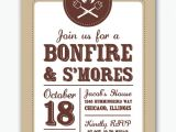 S More Party Invitation Bonfire and S Mores Campfire Party Invitation by