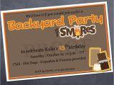 S More Party Invitation Printable Birthday Invitation S Mores Backyard Party