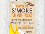 S More Party Invitation S Mores Birthday Invitation Digital File