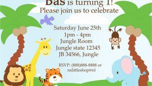 Safari Birthday Invitation Template Free 40th Birthday Ideas Jungle Birthday Invitation Template Free