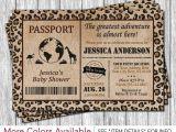 Safari Passport Baby Shower Invitations Best 25 Safari Invitations Ideas On Pinterest