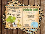 Safari Passport Baby Shower Invitations Novel Concept Designs Safari Passport Baby Animals