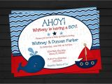 Sailor Baby Shower Invitations Template Ahoy It S A Boy Nautical Baby Shower Invitation by