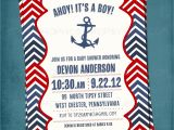 Sailor Baby Shower Invitations Template Chevron Nautical Baby Shower or Birthday Invite by Tipsy