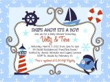 Sailor Baby Shower Invitations Template Nautical Baby Shower Invitations Baby Shower Decoration