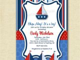 Sailor Baby Shower Invitations Template Ships Ahoy Sailboat Baby Shower or Birthday Party