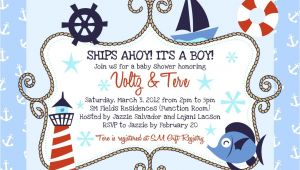 Sailor themed Baby Shower Invitations Nautical Baby Shower Invitations Baby Shower Decoration