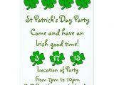 Saint Patrick S Day Party Invitations St Patrick 39 S Day Party Invitation Customizable Zazzle