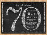 Sample 70th Birthday Invitation Wording 70th Birthday Party Invitations