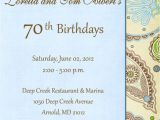 Sample 70th Birthday Invitation Wording Create 70th Birthday Invitation Wording Ideas Ideas