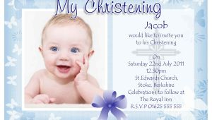 Sample Baptismal Invitation Card Baptism Invitation Baptism Invitations for Boys New