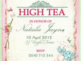 Sample Invitations to A Tea Party Victorian High Tea Party Invitations Surprise Party