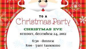 Santa Claus Party Invitations Santa Claus Christmas Party Invitation