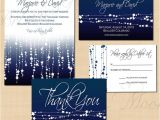 Save the Date and Wedding Invitation Packages Midnight Blue Star Streamers Save the Date Invitation Rsvp