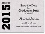 Save the Date Graduation Invitations Shimmery Quartz White Graduation Save the Date Cards