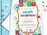Science Party Invitations Template Free Coloful Science themed Party Invitation Template Mad