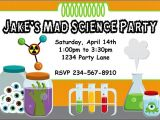 Science Party Invitations Template Free Mad Science Birthday Party Invitation Idea New Party Ideas