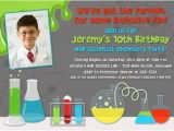Science Party Invitations Template Free Mad Science Birthday Party Invitations Drevio