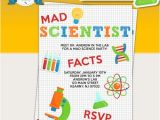 Science Party Invitations Template Free Mad Scientist Birthday Party Printable Invitations Mad