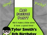 Science Party Invitations Template Free Mad Scientist Party Invitation