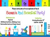 Science Party Invitations Template Free Science Birthday Party Invitations