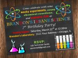 Science Party Invitations Template Free Science Birthday Party Invitations Oxsvitation Com