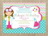 Science Party Invitations Template Free Science Girl Invitation Childrens Museum Party