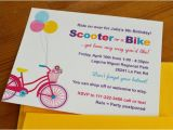 Scooter Party Invites Free Girl Bike and Scooter Party Outdoors Party Birthday