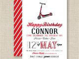 Scooter Party Invites Free Printable Party Invitation Scooter Party