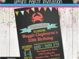 Seafood Boil Party Invitations Seafood Boil Birthday Party Invitation Chalkboard Crab