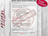 Secret Agent Party Invitations Free Secret Agent Spy Birthday Party Invitation by