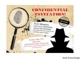 Secret Agent Party Invitations Free Secret Agent Spy Birthday Party Invitation Customized