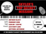 Secret Agent Party Invitations Free Spy Party Supplies Personalized Secret Agent Birthday