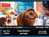 Secret Life Of Pets Party Invitations 12 the Secret Life Of Pets Birthday Party Invitations