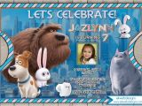 Secret Life Of Pets Party Invitations the Secret Life Of Pets Birthday Invitation the Secret