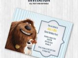 Secret Life Of Pets Party Invitations the Secret Life Of Pets Party Invitation