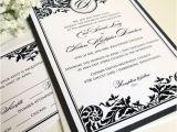 Self Made Wedding Invitations Wedding Invitation Pdf Printable Wedding Invitations Black