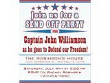 Send Off Party Invitation Card Military Deployment Send Off Party Invitation 5 Quot X 7