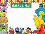 Sesame Street 1st Birthday Invitation Template Elmo and Sesame Street Birthday Party Invitation Coolest
