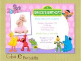 Sesame Street 1st Birthday Invitation Template Elmo Sesame Street Birthday Invitation