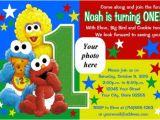 Sesame Street 1st Birthday Invitation Template Elmo Sesame Street Birthday Party Invitations Drevio