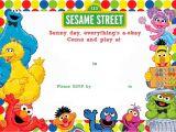 Sesame Street 1st Birthday Invitation Template Free Printable Sesame Street Birthday Invitation Sesame
