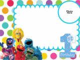 Sesame Street 1st Birthday Invitation Template Free Sesame Street 1st Birthday Invitation Template Free
