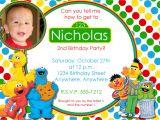 Sesame Street 1st Birthday Invitation Template Sesame Street Birthday Invitation
