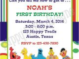 Sesame Street Birthday Party Invitations Personalized Custom Printed Sesame Street Birthday Party by